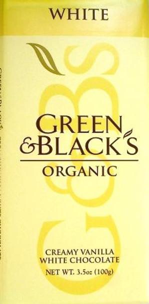 GREEN & BLACK'S VANILLA WHITE CHOCOLATE BAR 100g
