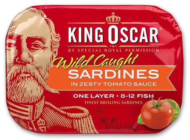 KING OSCAR SARDINES IN ZESTY TOMATO SAUCE 106g