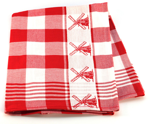 WINDMILL TOWEL RED GINGHAM