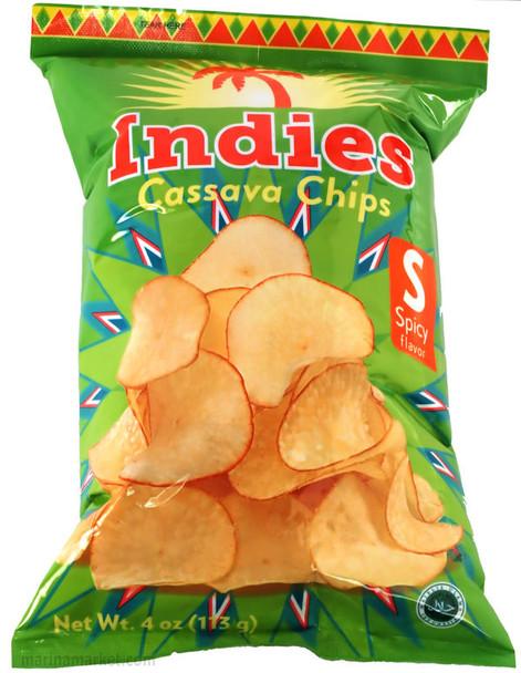 INDIES SPICY CASSAVA CHIPS 113g