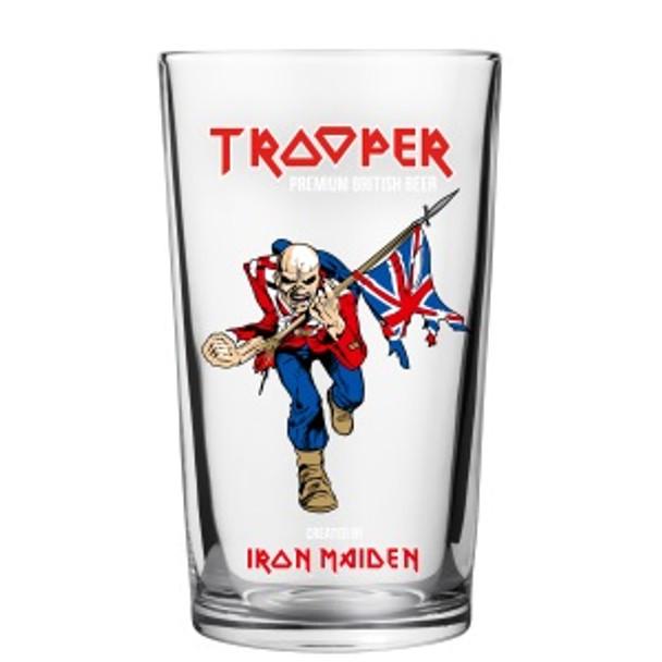 IRON MAIDEN TROOPER PINT GLASS