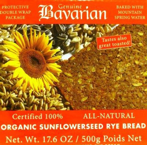BAVARIAN SLICED ORGANIC SUNFLOWER BREAD 500g