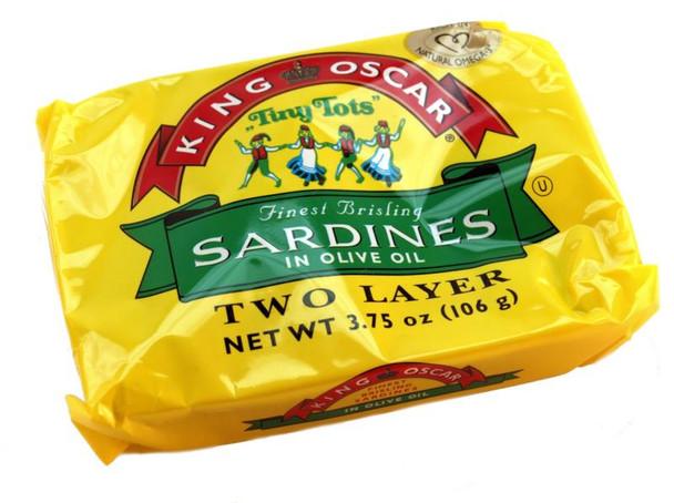 KING OSCAR TINY TOTS SARDINE 106g