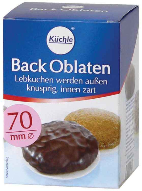 KUCHLE BACK OBLATEN 70mm ROUND 100CT