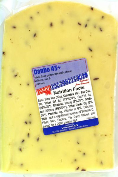Danbo cheese with Caraway seeds Per Lb