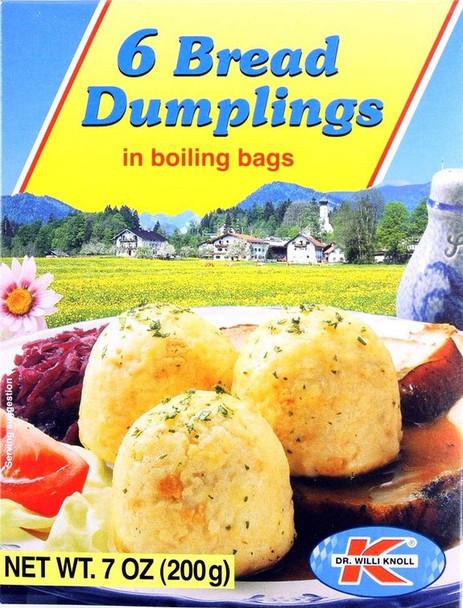 KNOLL BREAD DUMPLINGS IN COOKING BAG 6ct