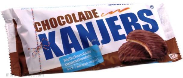 KANJERS CHOCOLATE STROOPIES 4pk