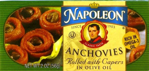 ANCHOVY CAPER ROLLS 56G