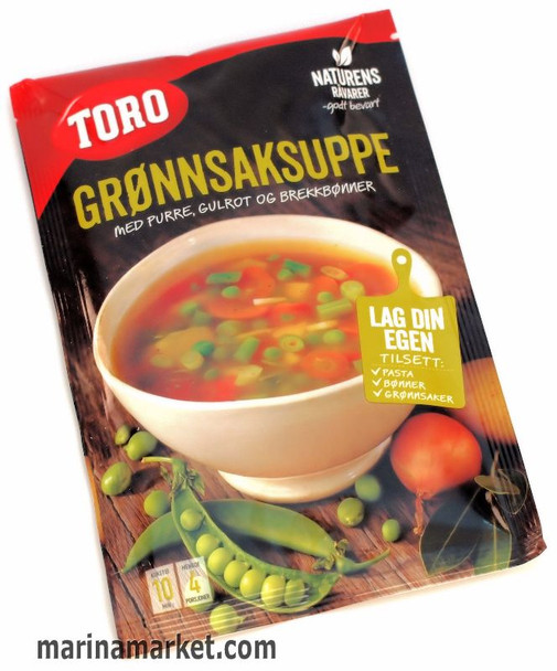 TORO VEGETABLE SOUP WITH LEEK, CARROT AND GREEN BEANS 46g