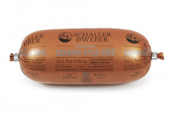 SCHALLER & WEBER COURSE GRIND COUNTRY STYLE PATE' 7oz