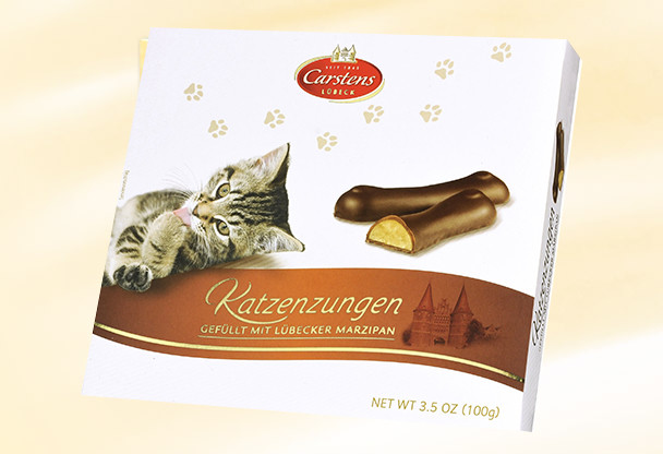 CARSTENS LUBECK MARZIPAN CAT TONGUES 100g
