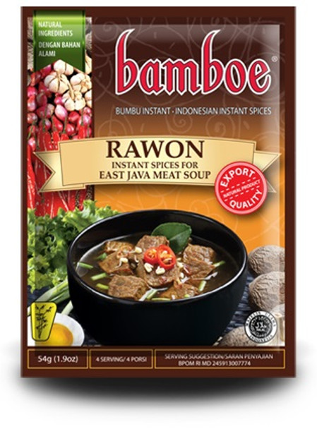 BAMBOE RAWON SPICY EAST JAVA BEEF SOUP 54g