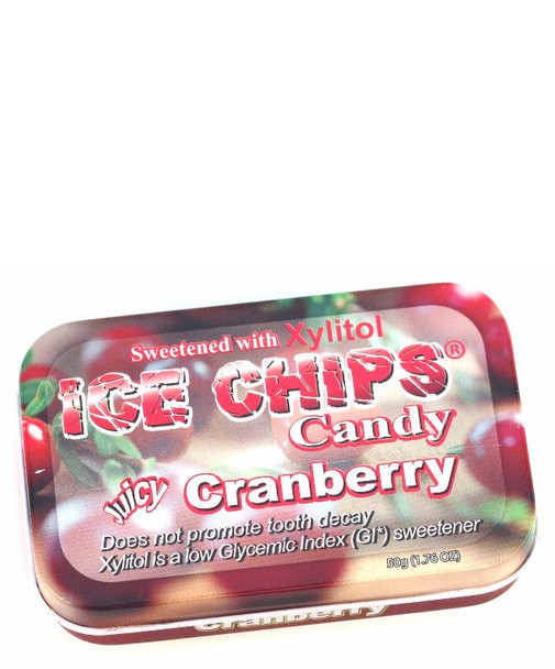 Cranberry Ice Chips Xylitol 50g