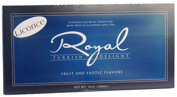 NORY CANDY LICORICE ROYAL TURKISH DELIGHT 16oz