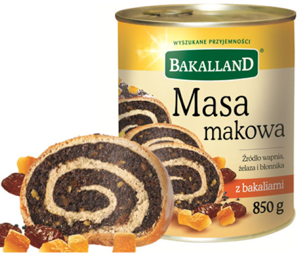 BAKALLAND SWEET POPPY SEED FILLING  850g