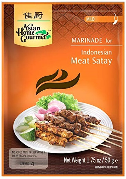 ASIAN HOME GOURMET INDONESIAN MEAT SATAY 50g