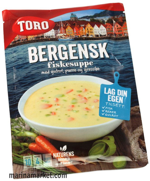 TORO BERGENSK FISKESUPPE FISH SOUP WITH CARROT,  LEEK & GREEN ONION 81g