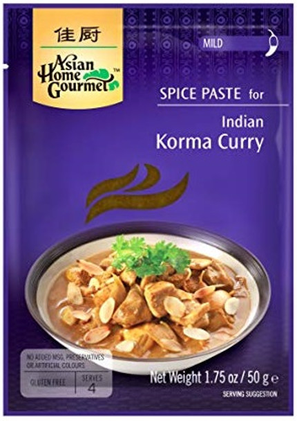 ASIAN HOME GOURMET KORMA CURRY SPICE MIX 50g