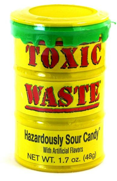 TOXIC WASTE HAZARDOUSLY SOUR CANDY 5-FLAVORS 48g