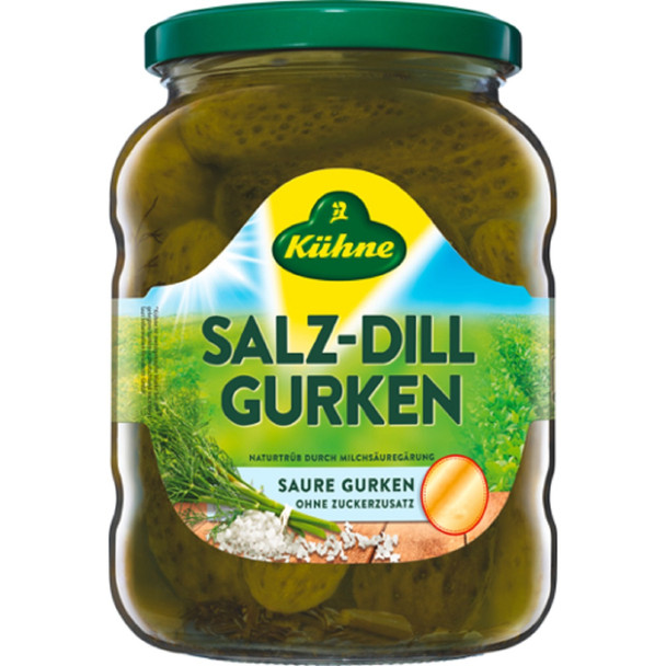 KUHNE SALT DILL PICKLES 650g