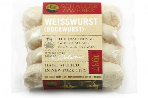 SCHALLER & WEBER WEISSWURST (BOCKWURST) 12oz