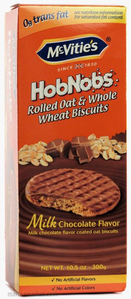 MCVITIE'S HOB NOBS CHOCOLATE WHOLE WHEAT BISCUITS 300g