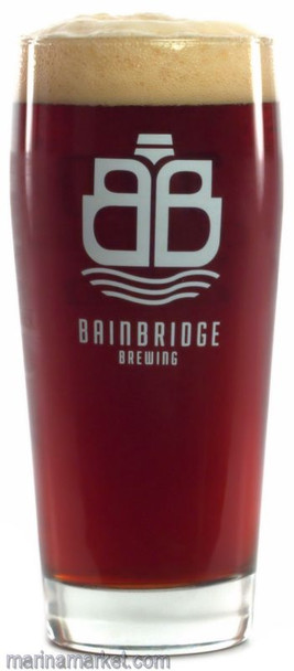 BAINBRIDGE BREWING PINT GLASS