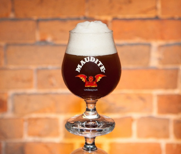 UNIBROUE MAUDITE GLASS