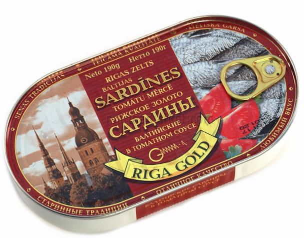 RIGA GOLD SARDINES IN TOMATO SAUCE 190g