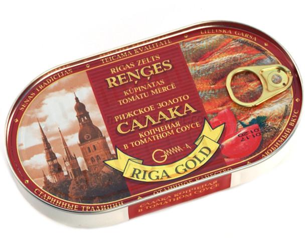 RIGA GOLD SMOKED HERRING IN TOMATO SAUCE
