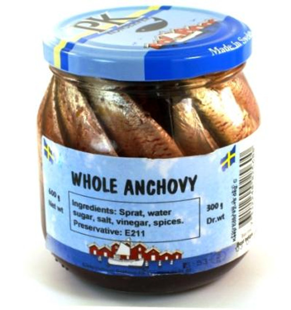 PK WHOLE ANCHOVY PK 600g