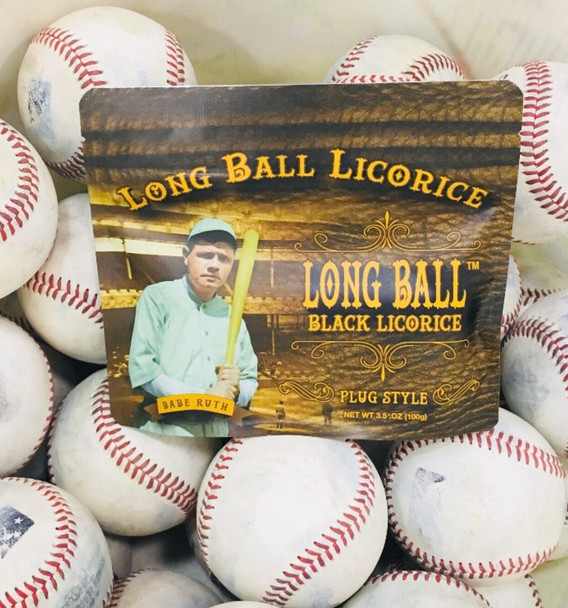 BABE RUTH LONG BALL BLACK LICORICE 8oz