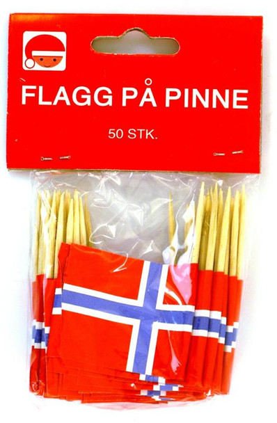 NORWEGIAN FLAG TOOTHPICKS 50ct