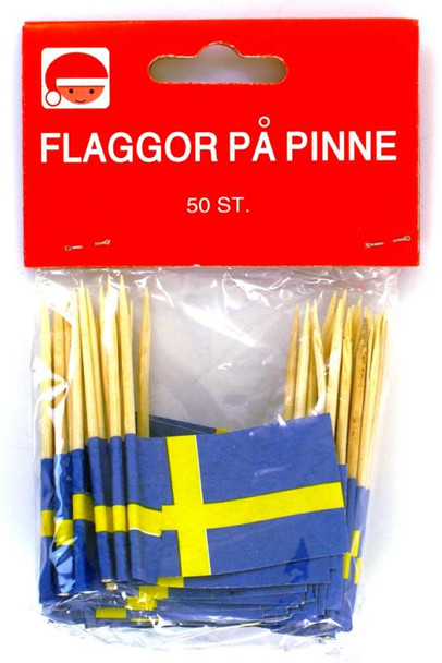 SWEDISH TOOTHPICK FLAGS 50ct