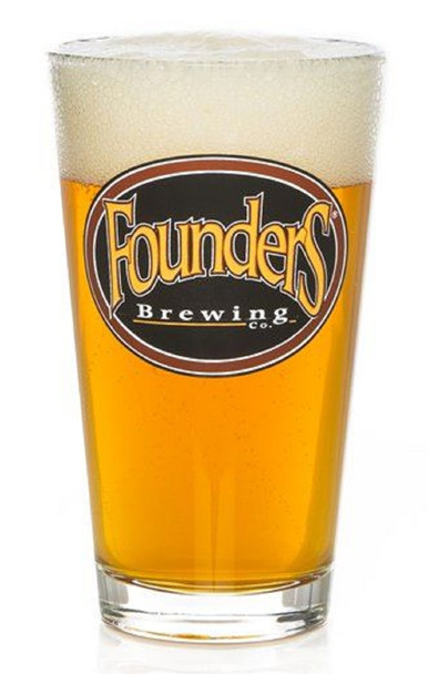 FOUNDERS PINT GLASS