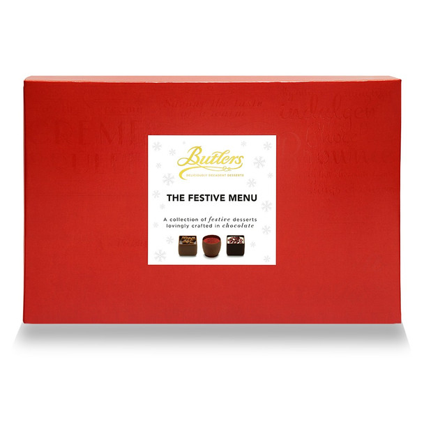 BUTLER'S FESTIVE MENU HOLIDAY GIFT BOX CHOCOLATES