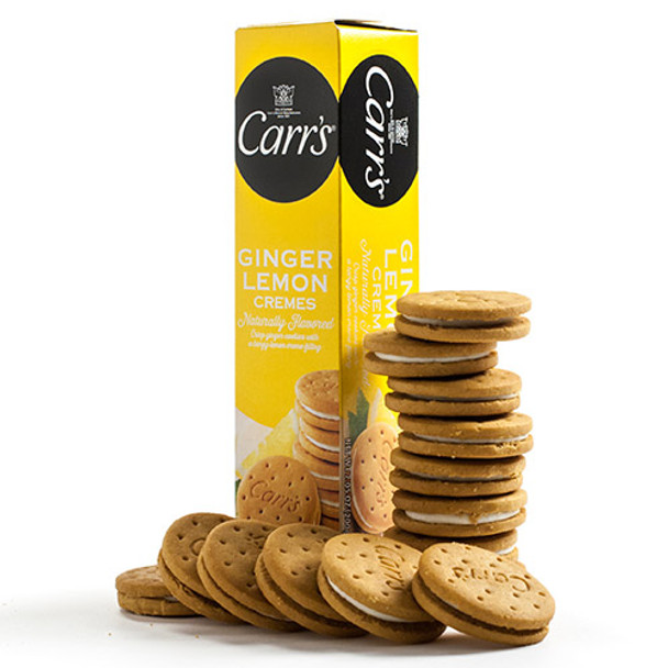 CARR'S GINGER LEMON CREMES FILLED COOKIES 200g