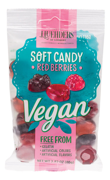 J LUEHDERS VEGAN RED BERRY GUMMIES 80g
