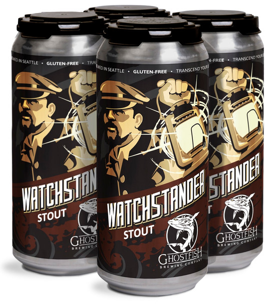 GHOSTFISH WATCHSTANDER STOUT CAN 4-PK