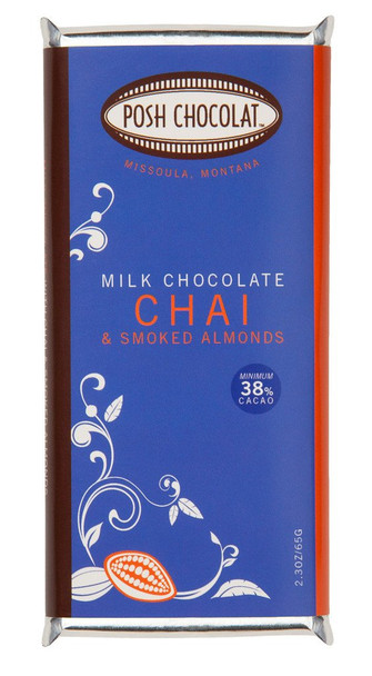 POSH CHAI & SMOKED ALMONDS MILK CHOCOLATE