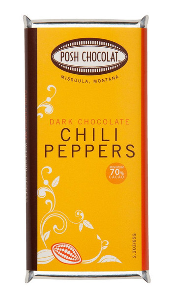 POSH CHILI PEPPERS DARK CHOCOLATE