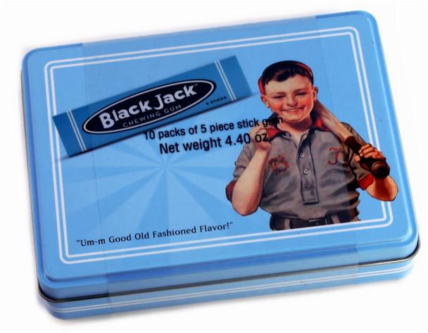 BLACK JACK CHEWING GUM TIN