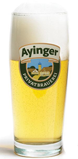 AYINGER GLASS WILLIBECKER 500ml PINT GLASS