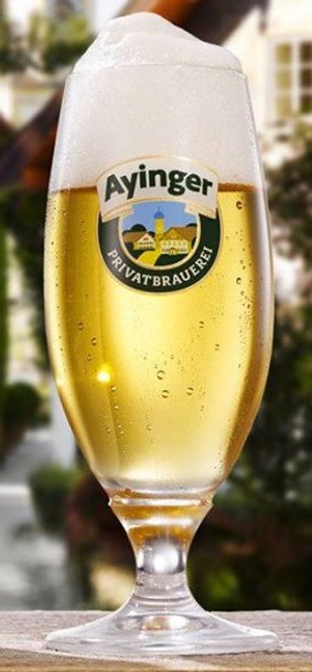 AYINGER GLASS PILS STEMMED (FOOTED)