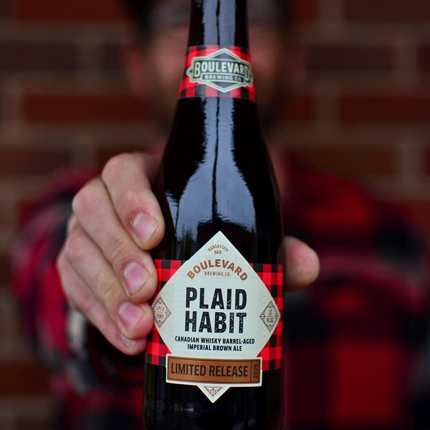 BOULEVARD PLAID HABIT BARREL-AGED IMPERIAL BROWN