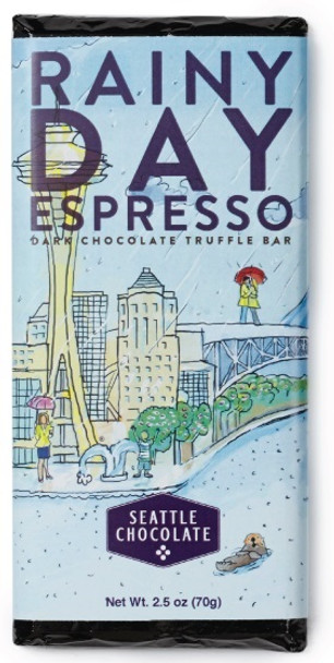 SEATTLE RAINY DAY ESPRESSO DARK CHOCOLATE BAR