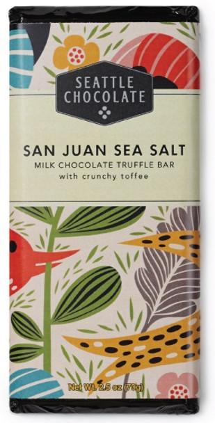SEATTLE CHOCOLATE SALTED SAN JUAN MILK  CHOCOLATE BAR