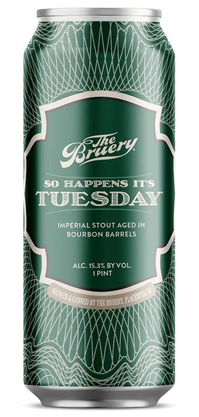 THE BRUERY SO HAPPENS IT'S TUESDAY BARREL AGED IMPERIAL STOUT