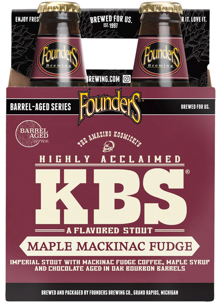 FOUNDERS KBS MAPLE MACKINAC FUDGE IMPERIAL STOUT