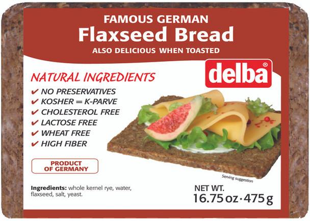 DELBA FELDKAMP FLAXSEED BREAD 475g